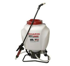 Back Pack Sprayer Garden Nozzle Chemical Battery Operated Tank Weed 4 Gallon NEW