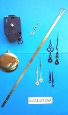 Clock Kit - SHORT Shaft Pendulum Battery Quartz Movement - w/Hands! NEW! (604)