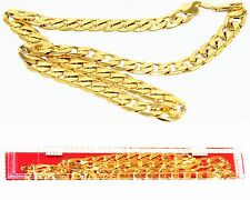 24K Yellow Gold Filled Men's Jewellery Royal Classic NECK Chain Link + WARRANTY