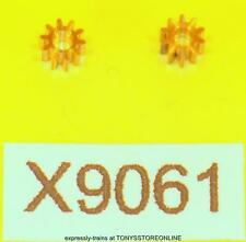 hornby oo spares x9061(s2565) 2x 10 tooth brass gear for 5 pole ringfield motor