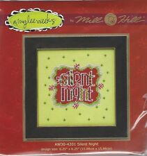 Christmas Silent Night Cross Stitch Glass Bead Kit by Mill Hill