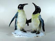 ENS Thüringen Porzellan Tierfigur ° Pinguinpaar ° grosse Pinguin Gruppe