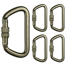 Fusion Climb Tazo III Tactical Edition Screw Gate Carabiner Coyote Brown 5-Pack