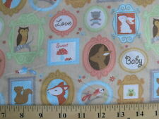 *Bty* Forest Friends Nursery Fabric cotton material deer owl rabbit squirrel