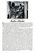 Betty Amans Musikschrank Noracor der Nora Radio Text-& Photo-Collage c.1930