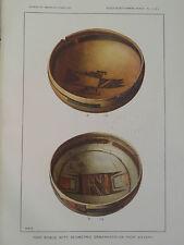 HOPI INDIAN POTTERY BOWLS GEOMETRIC STYLE SIKYATKI ARIZONA 1897 GC