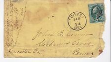 FOREST, DEL JANUARY 14, UNKNOWN YEAR WITH 3C WASHINGTON STAR CANCEL