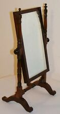 GOOD QUALITY ANTIQUE MAHOGANY SWING DRESSING TABLE MIRROR MINIATURE CHEVAL