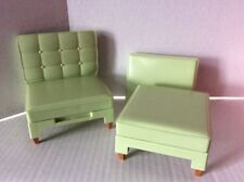 Barbie Original Retro Green Lounge Furniture 3 Piece 2005 Mattel Excellent