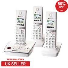 Panasonic KX-TG 8063 Trio Cordless Phone with Answerphone - White (RB)