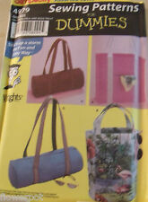 Simplicity Craft Pattern 4979 UNCUT Sewing for Dummies - Bags 4 Lovely Options