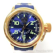 Invicta 7243 Russian Diver Signature Swiss GMT 52mm 100m Gold Blue Mens Watch