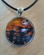 "Tim Burton's Halloween Night Before Christmas ""JACK PUMPKIN KING"" Glass Pendant"