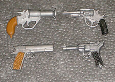 VINTAGE ACTION MAN 40th LOOSE - GUNS x 4 ( SOME STYLES COLOURS MAY VERY )