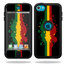 Skin Decal Wrap for OtterBox Defender iPod Touch 5G Case Rasta Flag
