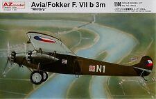 AZ Models 1/144 Avia / Fokker F.VIIb 3m Military # 14402