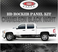 "Chameleon Hex Black Camo Rocker Panel Graphic Decal Wrap Truck SUV - 12"" x 24FT"