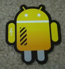"ANDROID DROID Yellow Lightning robot logo Sticker 2.5"" Google andrew bell"