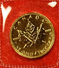 2012 CANADIAN GOLD MAPLE LEAF 1/10 oz .9999% BU GREAT COLLECTOR COIN GIFT