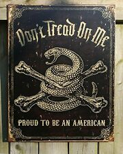 Dont Tread On Me American Tin Sign Retro Vintage Wall Art Garage Man Cave Decor