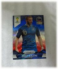 2014 Panini Prizm World Cup Blue Red Wave Karim Benzema - France #82