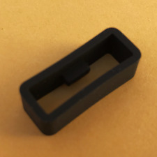 High Quality BLACK Silicone Rubber Watch Band Strap Loop Locker Keeper 20-22mm