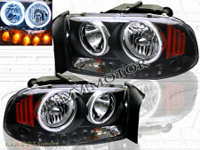 97-04 DODGE DAKOTA DURANGO HEADLIGHTS CCFL 98  99 BLACK