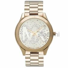 Michael Kors Original MK3590 Women's Slim Runway Gold Stainless Steel Watch 39mm