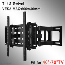 "TV Wall Mount Bracket Full Motion Tilt Swivel LCD LED 40 48 50 55 60 70"" Plasma"