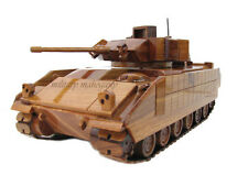 Army M2 M2A1 Bradley Infantry Fighting Vehicle IFV Mahogany Wood Wooden Model