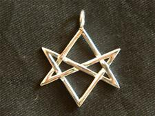 925 Sterling Silver UNICURSAL HEXAGRAM PENDANT /Thelema/Magick/Aleister Crowley