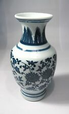 Chinese blue and white porcelain handwork painting flowers vase