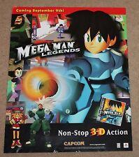 Mega Man Legends Store Display Sign Poster Promo Promotional VTG PS1 Playstation