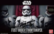 New Star Wars First order Stormtrooper 1/12 scale plastic model Bandai Japan s/f