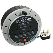 5 meter RCD Extension Lead Reel 2 Way with RCD Protection 5M -10A 240v