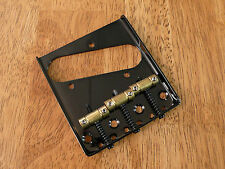 ASHTRAY BRIDGE BLACK 3 BRASS SADDLE FOR TELECASTER