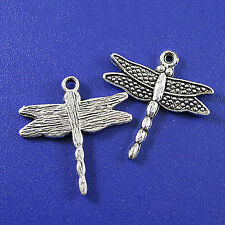 15pcs Tibetan silver crafted dragonfly charms h0324
