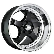 "4-NEW Konig 97B SSM 18x9 5x114.3/5x4.5"" +25mm Gloss Black Wheels Rims"