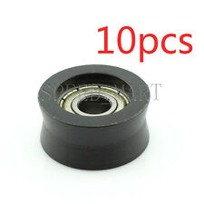 10pcs V Nylon Plastic Embedded 696 Groove Ball Bearings 6*21*10mm Guide Pulley