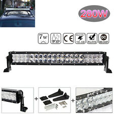 280W 28000LM 22INCH 5D CURVED OSRAM LED LIGHT BAR COMBO OFFROAD WORKING LAMP CAR