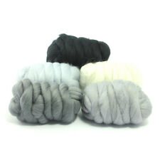 Hazy Grey - Dyed Merino Wool Top - Felting - Roving - Spinning - 250g