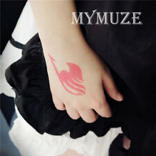 Fairy Tail Magic Association Cosplay Tattoo Sticker Lucy Heart Pink Tatoo