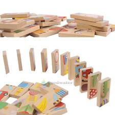 wooden toy meets dragon domino animal block gift puzzle Solitaire game 28pcs/set