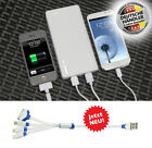 TheQ Power Bank PB02w externe Akku 20000mAh USB Ladegerät Samsung iPhone Weiß