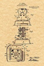 Patent Print - Gilbert DC Motor for Erector Set - 2 Art Prints. Ready To Be Fra