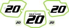 1996-2004 Kawasaki KX500 Pre-Printed Backgrounds White with Green Bold Pinstripe