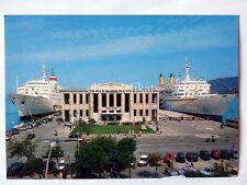 TRIESTE Nave ship EUGENIO C lloyd  Stazione Marittima vecchia cartolina