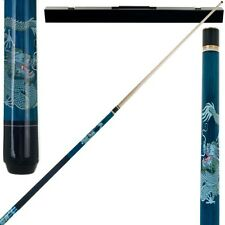 Dragon 2 Piece Pool Stick with Case Billiard Cue with 6 Replacement Tips