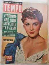 TEMPO 4 ottobre 1956 Rossana Podesta Ungaretti Fanfani Vaticano Gregory Peck di
