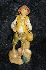 FONTANINI COLLECTORS CLUB 2000 MEMBERS ONLY FIGURE FISHERMAN BOY WITH FISH 5 1/2
